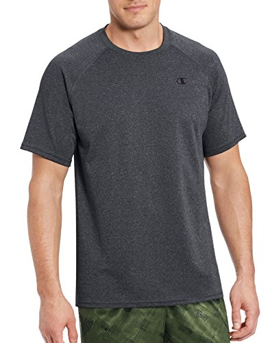 Champion Men's Vapor Select Tee with FreshIQ, Granite Heather, L from Champion