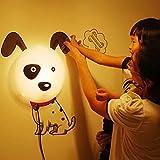 Alrens_DIY(TM)Novelty Cartoon DIY 3D Wallpaper Wall Stickers Home Room Decor Decoration LED Night Light Lamp for Kids' Bedroom (Lovely Dalmatians)