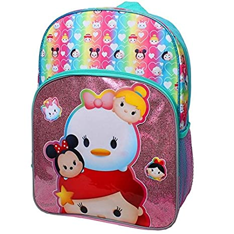 930211cd10 Image Unavailable. Image not available for. Color  Disney Tsum Tsum  Princess Tsums 16 inch Backpack ...