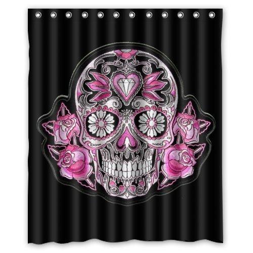 Diablo Sugar Skull Best Selling Shower Curtain 100
