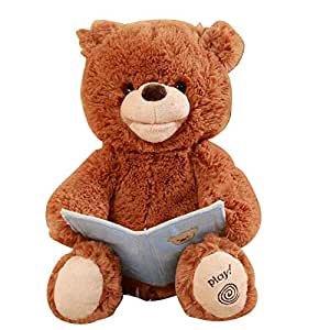 Music Plush Bear, Children Brown Bear Toy, Baby Music Bears, Singing Sleeping Doll, Cute Soft Plush Stuffed Animals, Electric Toys Baby Cuddle Doll for Kids Children