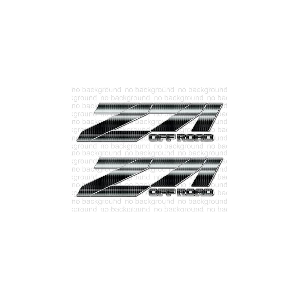 Chevy Silverado Z71 4x4 decals stickers   F (2007 2012) bed side 1500 2500 HD (set of 2)