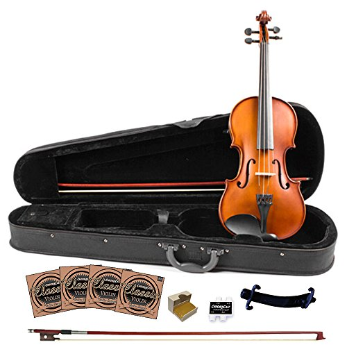 Rise by Sawtooth 3/4 Size Student's Carved Solid Spruce Top Violin Pack with Maple Back and Sides by Rise by Sawtooth