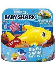 ZURU ROBO ALIVE JUNIOR Baby Shark batteridriven sjung- och badleksak, slumpmässig färg
