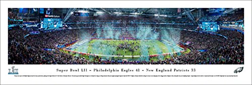 Super Bowl 2018 Champions - Philadelphia Eagles - Blakeway Panormas Unframed NFL Print