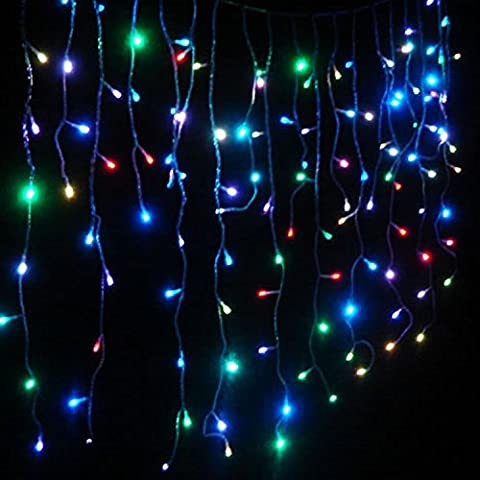 EL105LEDSTRRGB Electric Icicle Powered 105 LED Extendable Multicolor Icicle Flash Light Christmas Holiday Light 10 (Lone Star Porch Light)
