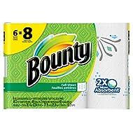 Bounty Paper Towels, Print, 6 Big Rolls = 8 Regular Rolls