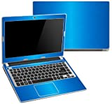 "Decalrus - Acer Aspire V5-431 , V5-471 with 14"" screen LITE BLUE Texture Brushed Aluminum skin skins decal for case cover wrap BAacerV5-431LiteBlue"