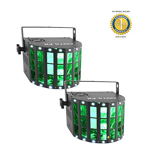 Chauvet DJ Kinta FX Compact Multi-effects Lighting Fixture 2-Pack with 1 Year Free Extended Warranty by Chauvet