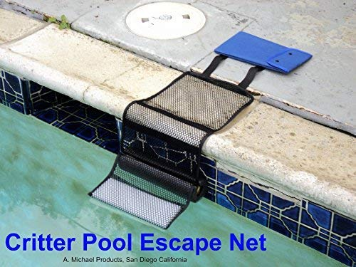 Critter Pool Escape Net-Animal Escape Ramp for Pools- Save Critters in Swimming Pool Device-Frog Pool Escape-Mice Rats Squirrels Possums Turtle Frogs Saver-Easy Setup Low Priced Animal Escape Device (Frog Pad)