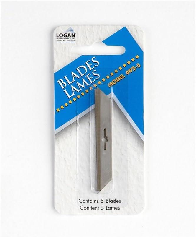 Logan : 5 pack Blades for 1500 Foam Board Cutter: Amazon.es: Oficina y papelería