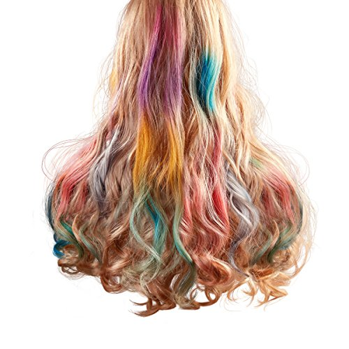 Maydear Temporary Hair Chalk Comb-Non Toxic Washable Hair Color Comb for Hair Dye-Safe for Kids for Party Cosplay DIY (6 Colors) by Maydear (Image #5)