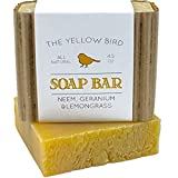 Best Body Wash for Acne Neem Soap Bar. All Natural Face Wash & Acne Body Wash. 100% Natural & Organic. Artisan Neem Oil Soap with Therapeutic Lemongrass and Geranium Essential Oils
