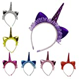 TATGB Party Decorative Unicorn Flower Hairband Kids Girls Headbands 33PC
