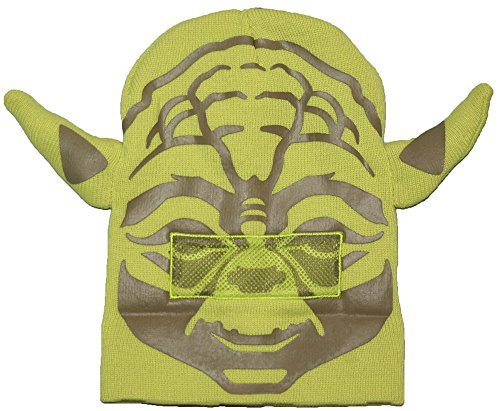 Adult Yoda Mask - Star Wars Yoda Roll Down Mask Winter Beanie Hat