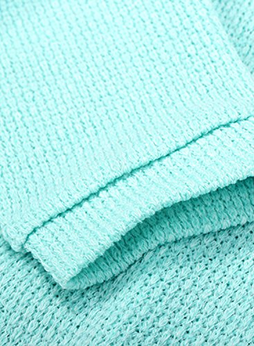 Azbro Mujer Suéter de Punto Cuello de V Delgado de Moda Gris claro