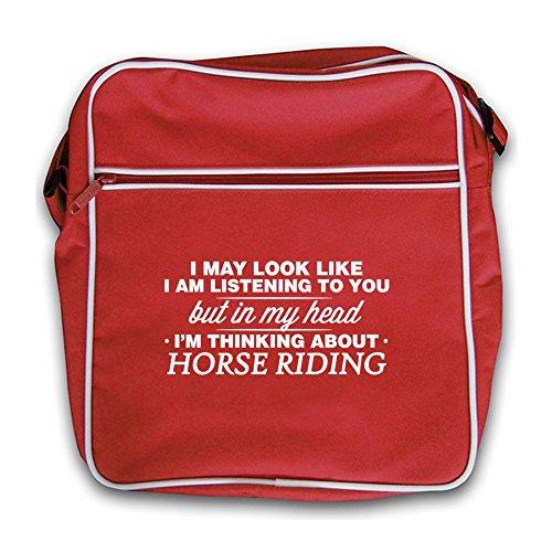 Retro Head My Riding I'm In Bag Red Horse Flight nxfvPU