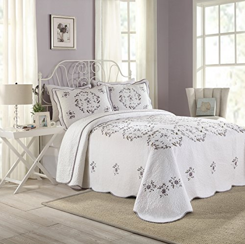 Modern Heirloom Collection Gwen Cotton Filled Bedspread, King, 120 by 118-Inch by Modern Heirloom Collection