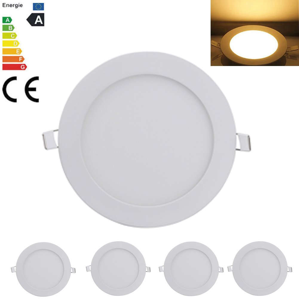 5X 18W Ultra Slim Recessed Round Panel Ceiling Light Warm White LED Downlight chendongdong
