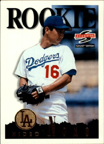 - 1995 Pinnacle Summit Baseball Rookie Card #141 Hideo Nomo