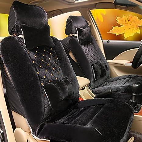 Amazon.com: cubierta de asiento de coche cojín, Hairy felpa ...