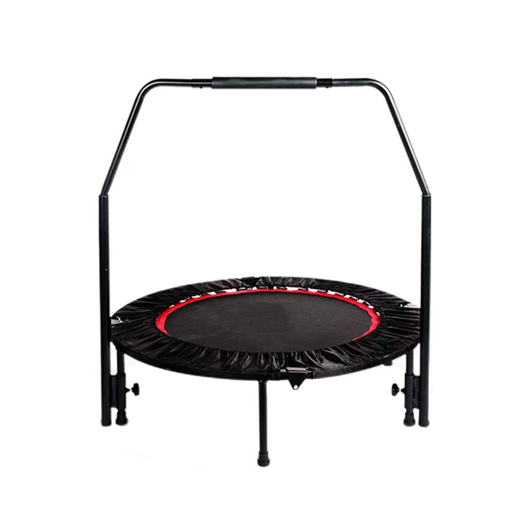 Gartentrampoline Trampolin 40 Zoll mit verstellbarem Handlauf, sicherer elastischer Rebounder Fitnesstrainer für Kinder oder Erwachsene