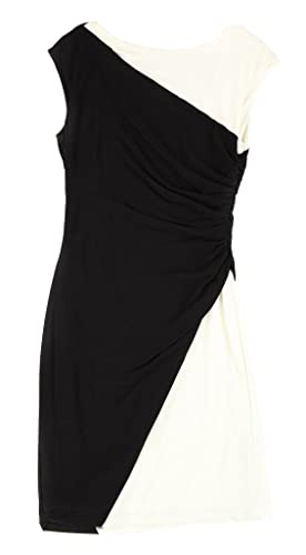 Lauren Ralph Lauren Women's Colorblock Sheath Dress Black 14