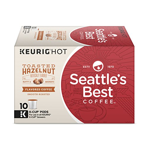 (Seattle's Best Coffee Toasted Hazelnut Flavored Medium Roast Single Cup Coffee for Keurig Brewers, 6 boxes of 10 (60 Total K-Cup pods))