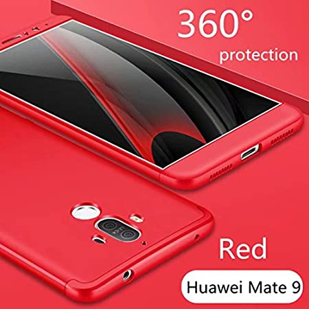 AILZH Custodia Huawei Mate 10 Lite Case 360/°Copertura Protettiva Hard Shell PC Anti Shock Shockproof Corpo Protettivo Anti-graffio Bumper 360 Gradi Custodia in Copertina Opaca Caso 3 in 1 Nero