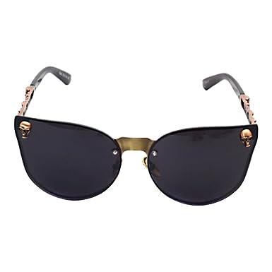 864630a6eec Zhuhaixmy Steampunk Skull Metal Frame Retro Cat Eye Sunglasses Gothic Vintage  Eyeglasses Punk Rock Shades Classic