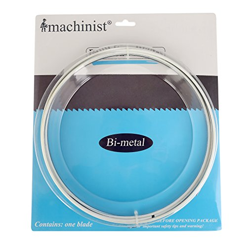 Imachinist 93-1/2″ Long, 1/2″ Wide, 0.025″ Thick M42 Bi-metal Bandsaw Blades for Soft Metal Cutting (14/18TPI)