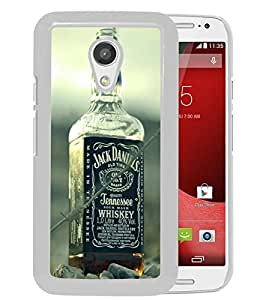 New Unique Custom Designed Case With Jack Daniels Whiskey White For Motorola Moto G 2nd Generation Phone Case