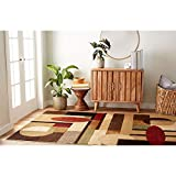 Home Dynamix Tribeca Jasmine Modern Area Rug, Abstract Brown/Green 7'10