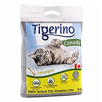 2 bolsas de 15 kg de arenero agglomerante para gatos Tigerino Canada, al 100% (granulado de arcilla natural: Amazon.es: Jardín