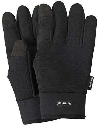 ny 82LB Waterproof Touchscreen Mechanics Glove, 3M Thinsulate lined, Neoprene Cuff, L, Black ()