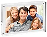 """Utenlid 6"""" X 8"""" Extra Thick Double Sided Magnetic Desktop Acrylic Picture Frame - 1"""" Thick"""