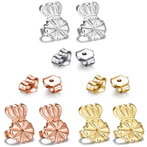 AmzonBasics - Original Magic Earring Lifters ❤ 3 Pairs of Adjustable Earring Lifts + Bonus 3 Pairs Earring Backs (Earring Lifters 3 + 3 Backs Color 1) (3 Earring Lifters + 3 Earring Backs Color 1)