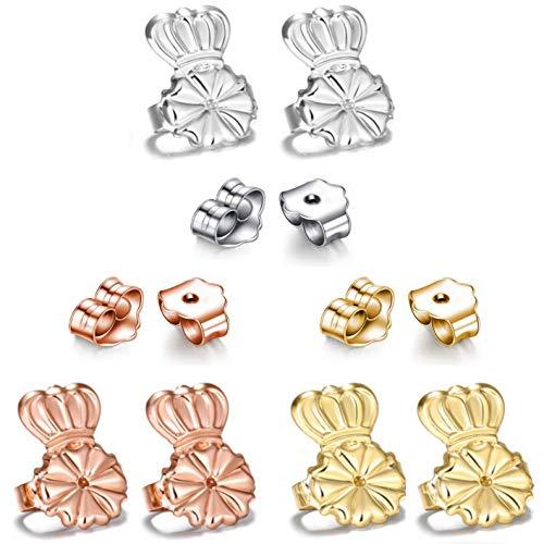 AmzonBasics - Original Magic Earring Lifters 3 Pairs of Adjustable Earring Lifts + Bonus 3 Pairs Earring Backs (Earring Lifters 3 + 3 Backs Color 1) (3 Earring Lifters + 3 Earring Backs Color 1)