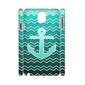 ALICASE Blue Chevron Anchor Customized Cover Case For samsung galaxy note 3 N9000 [Pattern-1]