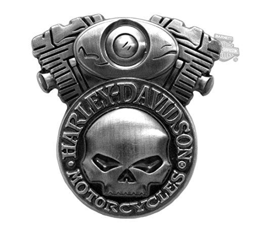 Harley Davidson 3D Cast Skull Engine Pin