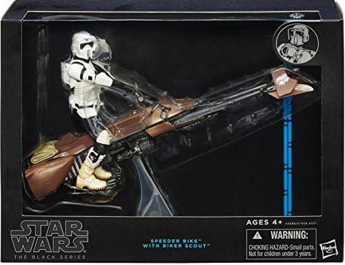Toy Zany Star Wars Black Speeder Bike Deluxe 6 inch Action Figurine