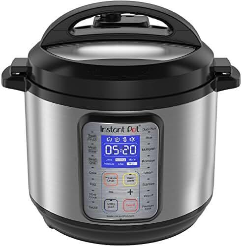 Instant Pot DUO Plus 6 Qt  9-in-1 Multi- Use Programmable Pressure Cooker, Slow Cooker, Rice Cooker, Yogurt Maker, Egg Cooker, Sauté, Steamer, Warmer, and Sterilizer