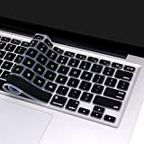 MacBook Air Keyboard Cover Skin for MacBook Pro 13'' 15'' (with or without Retina Display / 2015 or Older Version) and MacBook Air 13''-Black