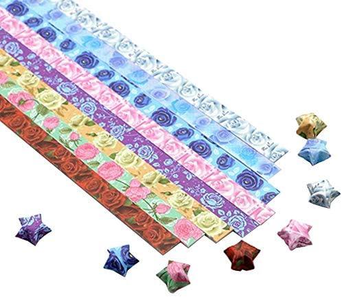 1300枚のカラフルな折り紙の星紙DIYのラッキースター紙片 #10