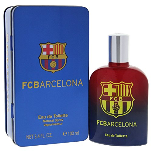 Air-Val International Eau de Toilette Spray for Men, FC Barcelona, 3.4 Ounce