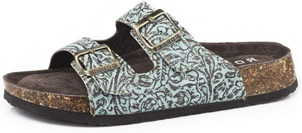 Roper Footwear Womens Jezebel Turquoise Hand Tooled Sandal 8 Green 51uefkrDfdLUL1024_