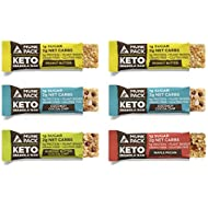 Munk Pack Variety Keto Granola Bars with 1g Sugar, 2g Net Carbs | Keto Snacks | Chewy & Grain Free | Plant Based | Gluten Free, Soy Free | No Sugar Added | 6 Pack