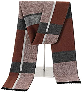 Zhukeke Mens Autumn Winter Warm Scarf Striped Grid Neckerchief Tartan Scarves Paisley Bandannas Bandelet 18030cm for Men Long Shawls Wear-Resistant Fashion Color : 15, Size : 18030CM