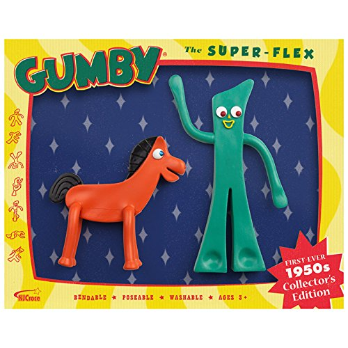 1950s Collector's Edition The Super-Flex Retro Gumby And Pokey Bendables Set (Bendable Collector)
