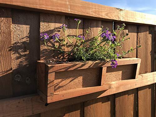 Cedar Fence Design - Cedar Planter Box - Privacy Fence Decorative Planter Box